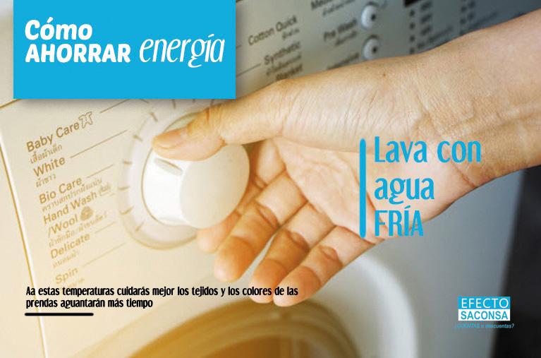 lavar con agua fria